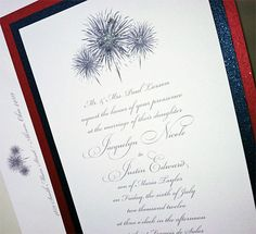4th of july wedding invitations   July 4th Inspired Fireworks Wedding Invitations \ My Personal Artist
