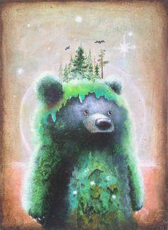 Bear-print-5-x-7-ours-surrealisme-pop #bear