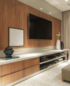 Trendy Home Theater Planejado Sala Apartamento 62 Ideas Tv Cabinet Design, Tv Wall Design, House Design, Home Decor Bedroom, Living Room Decor, Tv Wanddekor, Modern Tv Wall Units, Living Room Tv Unit Designs, Muebles Living
