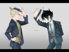 Ray e Norman Norman, Manga Anime, Anime Art, Film D'animation, Cat Noir, Fan Art, Anime Kawaii, Manga Games, Jeff The Killer