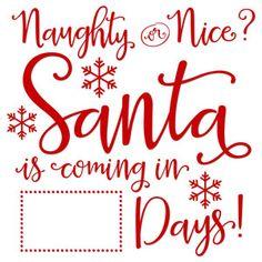 Silhouette Design Store - Product ID Christmas Vinyl, Christmas Labels, Christmas Signs Wood, Christmas Crafts, Christmas Ideas, Christmas Stencils, Homemade Christmas, Xmas, Santa Countdown