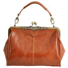 Vintage Kisslock Closure Shoulder Bag