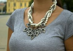 ZARA Pearl and Chains Necklace ***BLOGGERS****