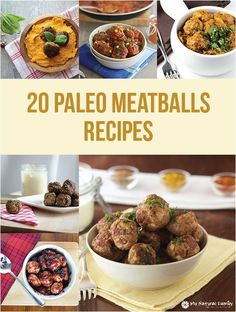 I love this variety of Paleo meatball recipes. There is just about every type of meat on this list and even more sauces and things to serve them on. My favorite are Paleo chicken meatballs.