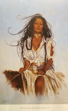"Penni Anne Cross '""Half Breed I Ach-hua-dlubh"" Native American Canvas Art Signed & Numbered L/E North American Tribes, Native American Paintings, Native American Pictures, Native American Beauty, Indian Pictures, American Indian Art, Native American History, Alaska, Native Indian"