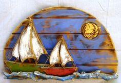 Coastal Art, Driftwood, Sea Glass, Sea Shells, Outdoor Gear, Tent, Ocean, War, Interior Design