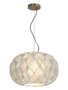 Trend Lighting Honeycomb Oval Pendant Lamp $225 Gilt