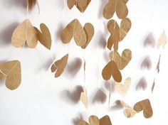 brown paper garland.
