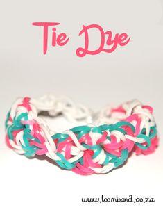 Tie dye loom band bracelet