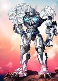 Lio Convoy - Beast Wars - commission by shamserg on DeviantArt Pawer Rangers, Power Rangers Art, Robot Concept Art, Robot Art, Gi Joe, Beast Machines, Big Robots, Iron Man Armor, Transformers Optimus Prime