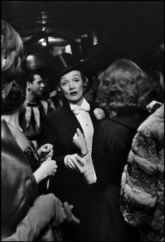 NYC. Marlene Dietrich  at the April in Paris Ball at the Waldorf Astoria Hotel, 1959 // by Elliot Erwitt