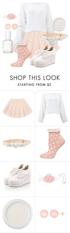 """""""Pink And White Kawaii"""" by adventuretimekitty ❤ liked on Polyvore featuring Rosetta Getty, Hot Topic, Dorothy Perkins, Hard Candy, Bare Escentuals, Ball, Essie, white, Pink and kawaii"""
