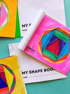Math Book Art: My Shape Book (Shape Activities for Kids) 2d Shapes Activities, Geometry Activities, Math Activities For Kids, Math For Kids, Fun Math, Steam Activities, Preschool Math, Math Games, Preschool Ideas