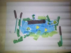 We love bubble wrap painted bubble wrap pond 1996 for Garden pool dennis mcclung