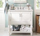 Newport Single Sink Console - White