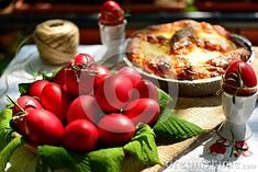 Photo about Easter red eggs and Romanian traditional sweet bread on a table. Image of christian, celebration, cake - 111821420 About Easter, Sweet Bread, A Table, Celebration, Eggs, Christian, Stock Photos, Traditional, Vegetables
