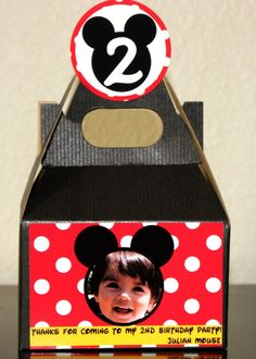 12 Mickey Mouse Birthday Party Favor Boxes by TiniPosh on Etsy, $24.00