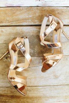 Strappy gold Jimmy Choo sandals: http://www.stylemepretty.com/2016/05/10/instyle-fashion-editor-real-wedding/ | Photography: Paige Jones - http://paigejones.us/