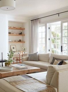 20 Totally Not Boring Living Rooms That Have Mastered the Art of Subtle Styling Getting a simple room just right is the difference between a space looking barren and manicured (and it can go either way, fast). The 20 liv Living Room Interior, Home Living Room, Living Room Designs, Living Room Furniture, Home Furniture, Living Area, Furniture Removal, Cheap Furniture, Outdoor Furniture