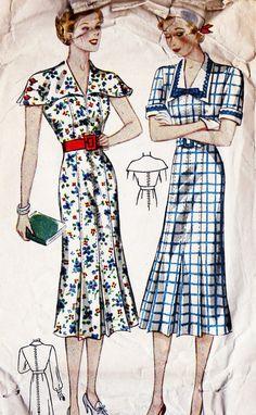 1930s Plus Size Summer Dress