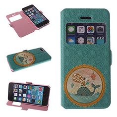 Big Dragonfly Iphone 5 5S Pu Leather Phone Case Cover with Whale on the Sea Pattern & Built-in Stand & Magnetic Button & Transparent Time Window Viewer (Teal) Big Dragonfly http://smile.amazon.com/dp/B00L8Q3F52/ref=cm_sw_r_pi_dp_I2z0tb0BVDJ6QJ3K
