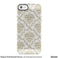 Elegant Gold Damask Uncommon #iPhone 5 Case Uncommon Clearly™ Deflector iPhone 5 Case   #zazzle
