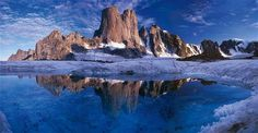 Mount Asgard in Auyuittuq National Park, Baffin Island, Nunavut. Cool Landscapes, Beautiful Landscapes, Landscape Photos, Landscape Photography, Natural Wonders, Beautiful World, Beautiful Places, Places To Go, National Parks