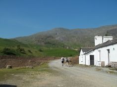 The start of the walk to The Old Man of Coniston from the Coniston Coppermines youth hostel in July 2013