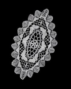 Vintage German crocheted doily with openworked border -- from Germany