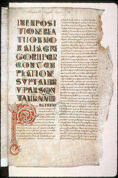 Amiens, Bibl. mun., ms. 0044, f. 002 Carolingian, Book Catalogue, Old Books, Illuminated Manuscript, Puzzles, Ms, Miniatures, Writing, Printed