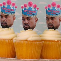 KANYE WEST HOLDING BIRTHDAY SIGN A4 ICING CAKE TOPPER PERSONALISED CELEBRITY