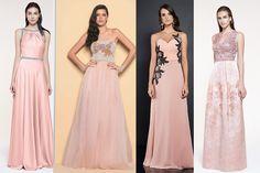 vestido de festa rosa quartzo
