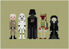 The Original Pixel People Star Wars Enemies by weelittlestitches