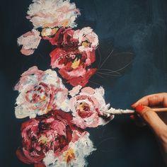 #peonies #art #painting #flowers