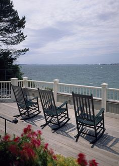 Beautiful view from these presidential style rockers...Swampscott, MA