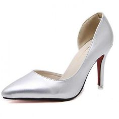 Women's Sexy Silver Party Prom Shoes With Stiletto Heels - TheCelebrityDresses