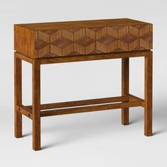 Tachuri Geometric Front Console Table Brown - Opalhouse™ - image 3 of 4 Dark Table, Light Table, Sofa Styling, Coffee Table Books, Fashion Room, Wood Veneer, Console Table, Furniture, Home Decor