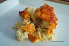 Gourmet Girl Cooks: Baked Cauli-roni & Cheese -- a wheat and grain free alternative to mac and cheese!  #wheatbelly #lowcarb #glutenfree