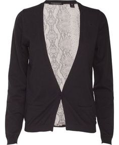 Maison Scotch Cardigan m. slangeprint