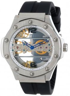 b08d98a279d Burgmeister BM214-102 Jakarta Stainless Steel Mechanical Skeleton Watch For  Men