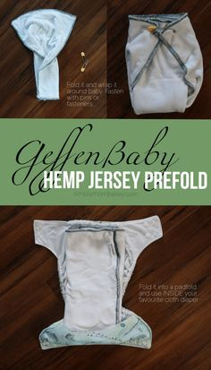 How to use your Geffen Baby Hemp Jersey Prefold Cloth Diaper - How to fold a prefold cloth diaper - USA Made Cloth Diapers - Geffen Baby - Trifold A Cloth Diaper - Prefold Cloth Diapers #clothdiapers