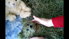 How to make a teddy bear with hay or dry grass. Игрушка из сена своими р...