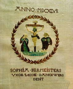 1646 - Alter cloth with cross stitch