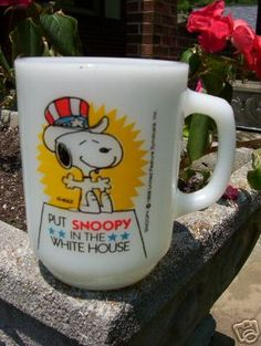 Put Snoopy in the White house vintage mug  http://www.junkfoodclothing.com/