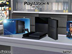 Playstation 4 New Mesh! by Sim4fun at Sims Fans via Sims 4 Updates Check more at http://sims4updates.net/objects/decor/playstation-4-new-mesh-by-sim4fun-at-sims-fans/