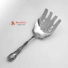 Non-u.s. Silver Antique Sterling Handle Asparagus Serving Fork England #21 Silver