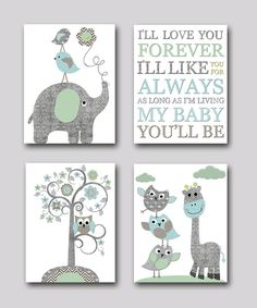 Nursery Print Kids Wall Art Kid Art Baby Room by artbynataera