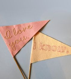 Small I Love You Felt Wedding Flags | Collections Wedding | betawife | Scoutmob Shoppe | Product Detail