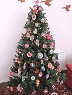 Mandalas para árbol navidad en crochet.