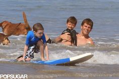 Exclusive Photos | Tom Brady splashed around with his sons in Costa Rica on Friday.